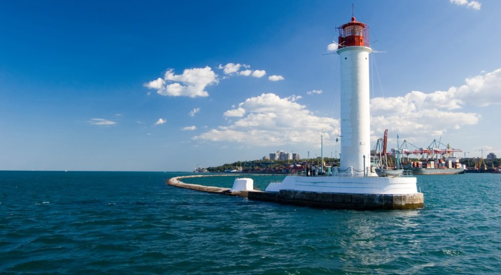 Lighthouse in the black sea, Odessa